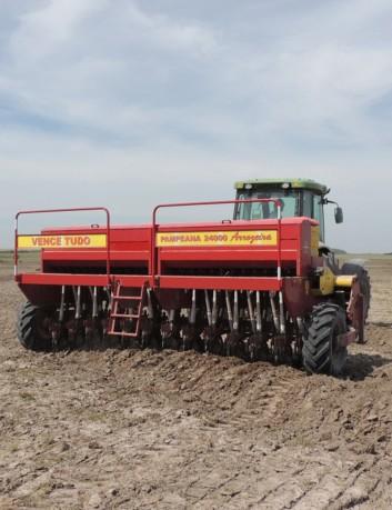 Sembradora grano fino Pampeana 20000, 28 líneas, mecánica
